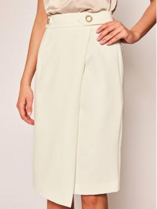 Trussardi Jeans Midi sukně 56G00113 Bílá Regular Fit dámské 40