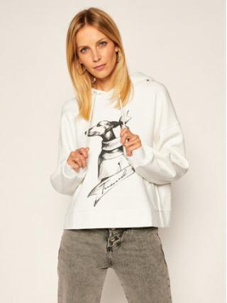 Trussardi Jeans Mikina Gardenia 56F00120 Bílá Regular Fit dámské S
