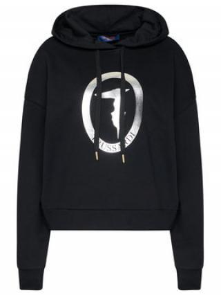 Trussardi Jeans Mikina Sweatshirt Hooded 56F00102 Černá Regular Fit dámské XXS