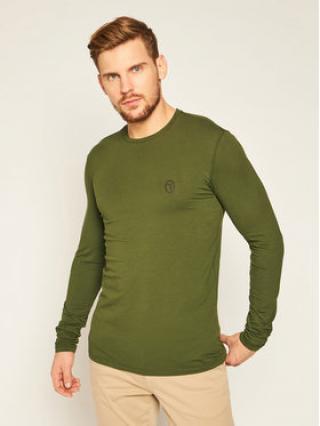Trussardi Jeans S dlouhým rukávem 52T00376 Zelená Regular Fit pánské S