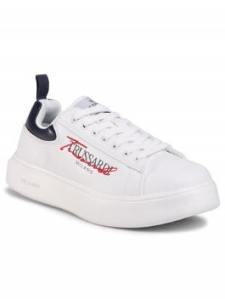 Trussardi Jeans Sneakersy 77A00279 Bílá pánské 45