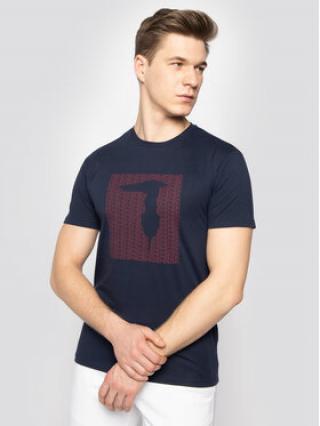 Trussardi Jeans T-Shirt 52T00311 Tmavomodrá Regular Fit pánské XXL