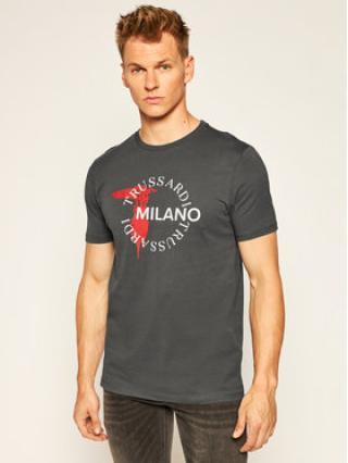Trussardi Jeans T-Shirt 52T00374 Šedá Regular Fit pánské XXL