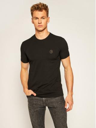 Trussardi Jeans T-Shirt 52T00377 Černá Slim Fit pánské XXL