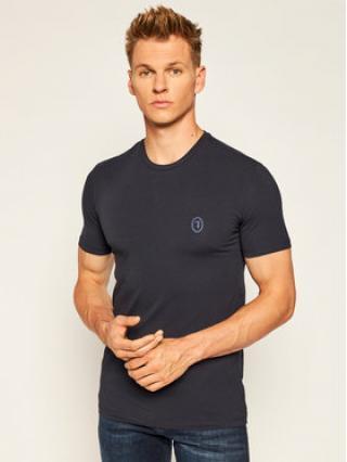 Trussardi Jeans T-Shirt 52T00377 Tmavomodrá Slim Fit pánské XXL