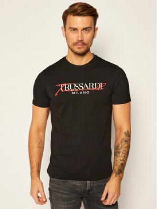 Trussardi Jeans T-Shirt 52T00382 Černá Regular Fit pánské M