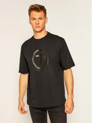 Trussardi Jeans T-Shirt 52T00398 Černá Over Fit pánské S