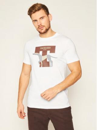 Trussardi Jeans T-Shirt 52T00432 Bílá Regular Fit pánské S