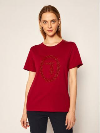 Trussardi Jeans T-Shirt 56T00277 Bordó Regular Fit dámské XS