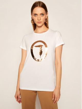 Trussardi Jeans T-Shirt 56T00280 Bílá Regular Fit dámské XS