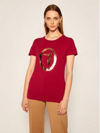 Trussardi Jeans T-Shirt 56T00280 Bordó Regular Fit dámské XXS