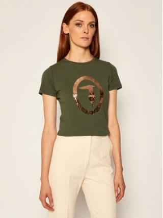 Trussardi Jeans T-Shirt 56T00280 Zelená Regular Fit dámské XXS