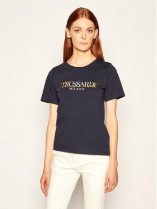 Trussardi Jeans T-Shirt 56T00281 Tmavomodrá Regular Fit dámské XXS