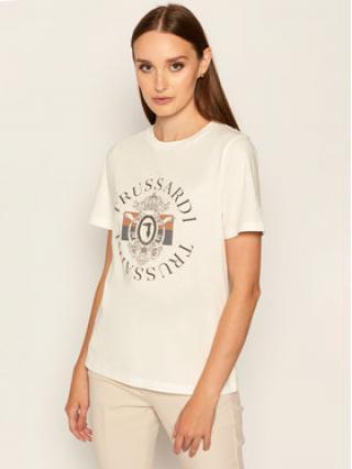 Trussardi Jeans T-Shirt Pure 56T00304 Bílá Regular Fit dámské XXS