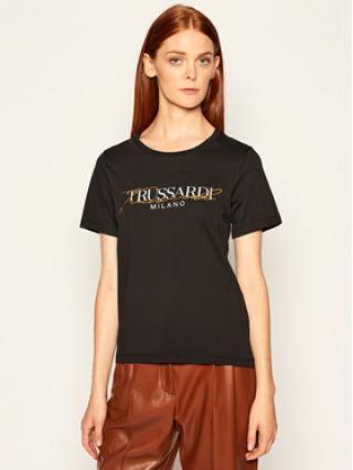 Trussardi Jeans T-Shirt Soft Pure 56T00281 Černá Regular Fit dámské XXS