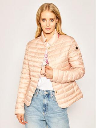 Trussardi Jeans Vatovaná bunda 56S00418 Růžová Slim Fit dámské 44