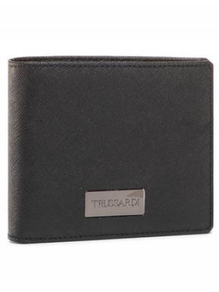 Trussardi Jeans Velká pánská peněženka Wallet Credit Card 71W00137 Černá 00