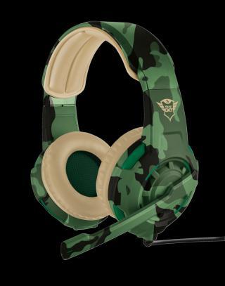 TRUST GXT 310C Radius herní sluchátka jungle camo