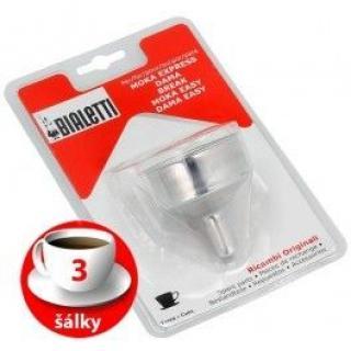 Trychtýř Bialetti hliníkový kávovar 3 šálky
