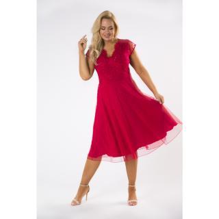 Tulle midi dress with a lace top dámské Neurčeno 52