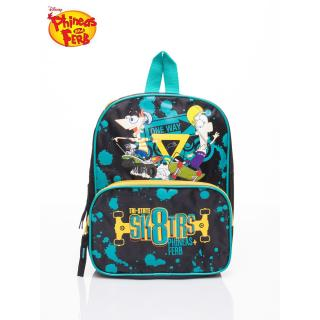 Turquoise school backpack with the Phineas and Ferb theme Neurčeno One size