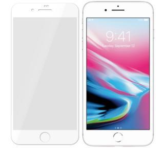 Tvrzené sklo 3mk FlexibleGlass Max pro Apple iPhone 7, 8, SE , bílá