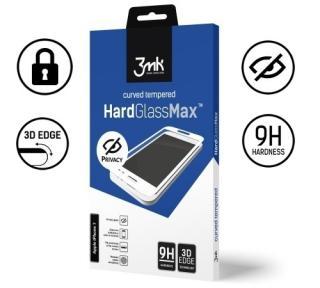 Tvrzené sklo 3mk HardGlass MAX Privacy pro Apple iPhone 11 Pro Max, černá
