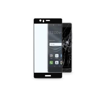 Tvrzené sklo CellularLine CAPSULE pro Huawei P9, Fullface black