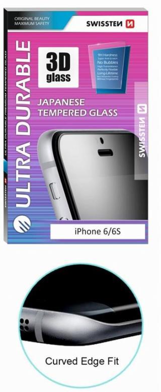 Tvrzené sklo SWISSTEN ULTRA DURABLE 3D Apple iPhone 6/6s černé