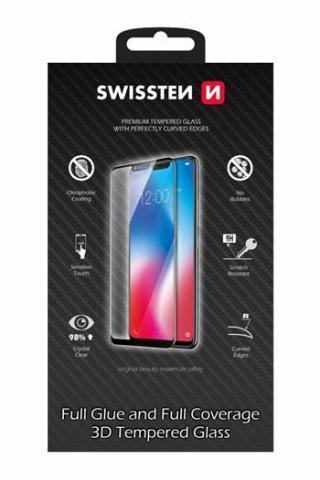 Tvrzené sklo Swissten Ultra Durable 3D Full Glue pro Huawei Y6s, černá