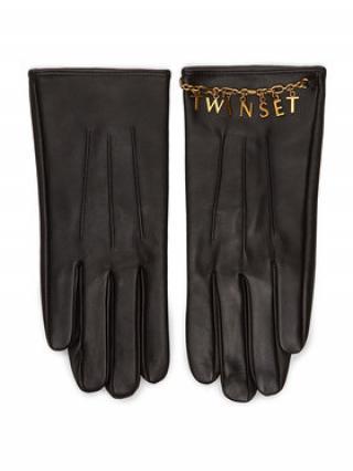 TwinSet Dámské rukavice 202TO5063 Černá S
