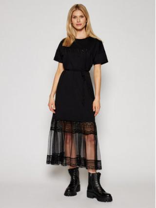 TwinSet Každodenní šaty 211TT2290 Černá Regular Fitq dámské XL