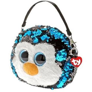 Ty Fashion Sequins kabelka s flitry WADDLES - tučňák