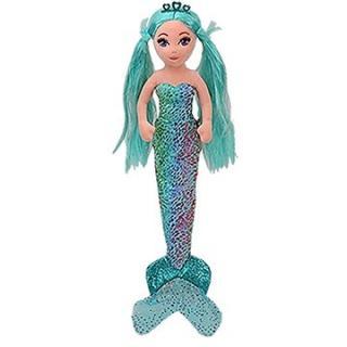 Ty Mermaids AZURE, 27 cm - foliová modrá mořská panna