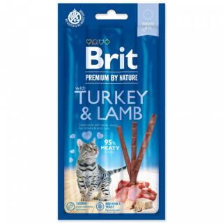 Tyčinky brit premium by nature cat sticks with turkey & lamb 3ks