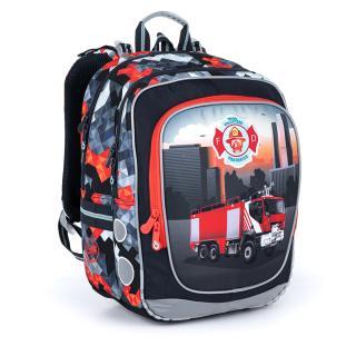 Ultralehký školní batoh s hasičským autem Topgal ENDY 21013 B,Ultralehký školní batoh s hasičským autem Topgal ENDY 21013 B pánské 39 cm