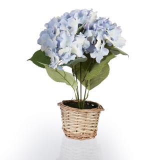 Umělá květina hortenzie, modrá