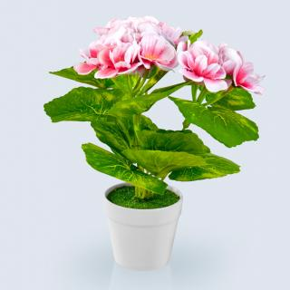 Umělá květina pelargonie mini, růžová