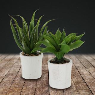 Umělá rostlina agáve, 2 ks