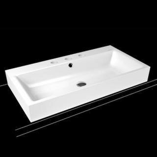 Umyvadlo na desku Kaldewei Centro 3055 60x50 cm alpská bílá bez přepadu 902806033001 bílá alpská bílá