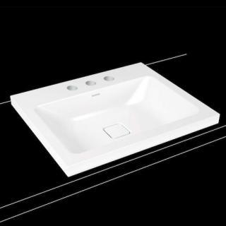 Umyvadlo na desku Kaldewei Cono 3083 60x50 cm alpská bílá bez přepadu 901906033001 bílá alpská bílá