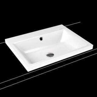 Umyvadlo na desku Kaldewei Puro 3154 60x46 cm alpská bílá bez otvoru pro baterii 900406003001 bílá alpská bílá