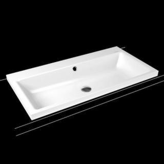 Umyvadlo na desku Kaldewei Puro 3155 90x46 cm alpská bílá bez otvoru pro baterii 900506003001 bílá alpská bílá