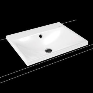 Umyvadlo na desku Kaldewei Silenio 3040 60x46 cm alpská bílá otvor pro baterii, bez přepadu 903906303001 bílá alpská bílá
