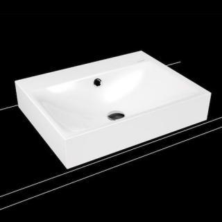 Umyvadlo na desku Kaldewei Silenio 3042 60x46 cm alpská bílá otvor pro baterii, bez přepadu 904106303001 bílá alpská bílá