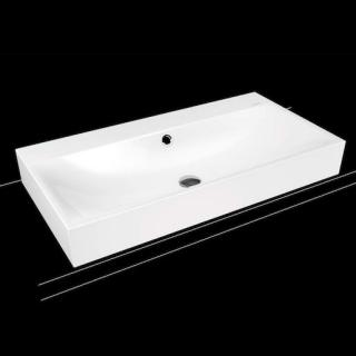 Umyvadlo na desku Kaldewei Silenio 3043 90x46 cm alpská bílá otvor pro baterii, bez přepadu 904206303001 bílá alpská bílá