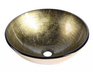 Umyvadlo na desku Sapho Fianna 42x42 cm bronz bez otvoru pro baterii, bez přepadu 2501-21