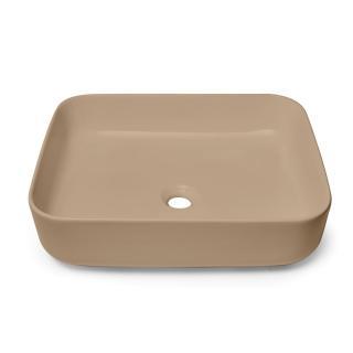 Umyvadlo na desku Swiss Aqua Technologies Infinitio 50x39 cm hnědá mat bez přepadu SATINF5039LBRM hnědá hnědá
