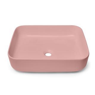 Umyvadlo na desku Swiss Aqua Technologies Infinitio 50x39 cm růžová mat bez přepadu SATINF5039PM růžová růžová
