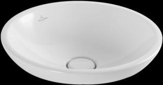 Umyvadlo na desku Villeroy & Boch Loop&Friends 43x43 cm alpská bílá bez otvoru pro baterii 41140001 bílá alpská bílá